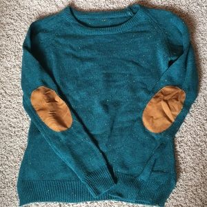 Sweaters - Green Sweater with Elbow Patches